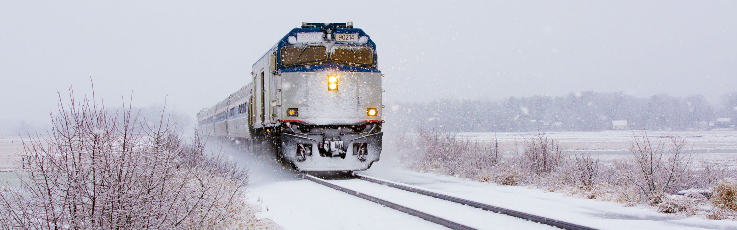Amtrak Downeaster Winter Train