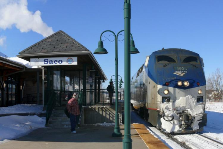 Saco, Maine Winter Train Station